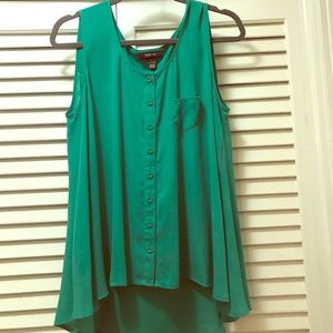 High low dressy tank. Size L style and co.